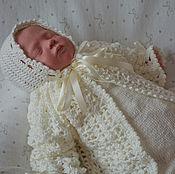Работы для детей, ручной работы. Ярмарка Мастеров - ручная работа Комплект на выписку для новорожденного комбинезон,жакет,шапочка. Handmade.