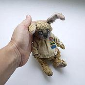 Куклы и игрушки ручной работы. Ярмарка Мастеров - ручная работа маленький зайка Прохор. Handmade.