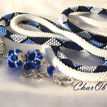 "Decorations handmade. Livemaster - original item Лариат ""Голубая лагуна"" Лариат колье украшение длинное. Handmade."