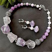Украшения handmade. Livemaster - original item Set Lilac evening. amethyst agate. Handmade.