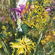 Картины и панно handmade. Livemaster - original item Wildflowers oil 30H40. Handmade.