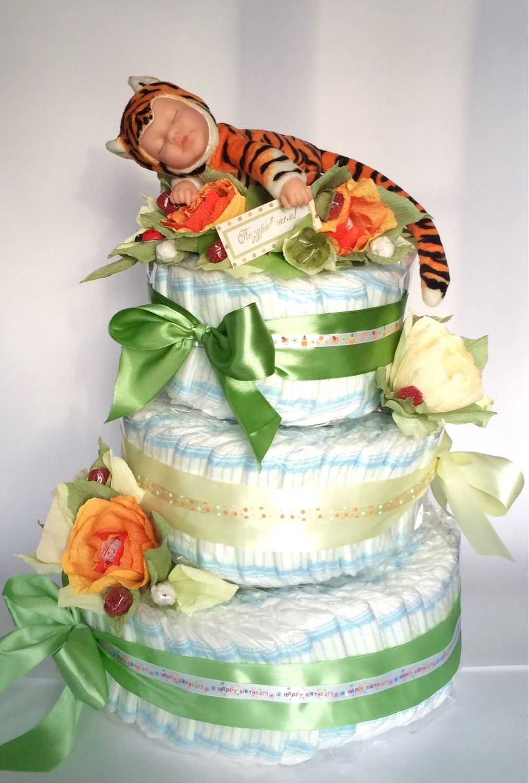 Торт из памперсов. Мой тигруля, Комплекты одежды, Москва, Фото №1