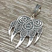 Украшения handmade. Livemaster - original item Talisman Bear Paw (Seal Of Veles). Silver 925 art.1033303. Handmade.