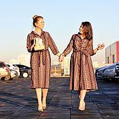 Одежда ручной работы. Ярмарка Мастеров - ручная работа Платье- халат из Премиального Американского хлопка.. Handmade.
