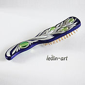 Сувениры и подарки handmade. Livemaster - original item comb with carved flower. Handmade.