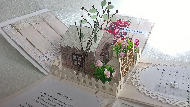 Коробочка для денег с домиком миниатюрой внутри, Открытки, Москва,  Фото №1