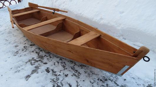 Экстерьер и дача ручной работы. Ярмарка Мастеров - ручная работа. Купить Лодка деревянная. Handmade. Рыжий, клумба, для пруда