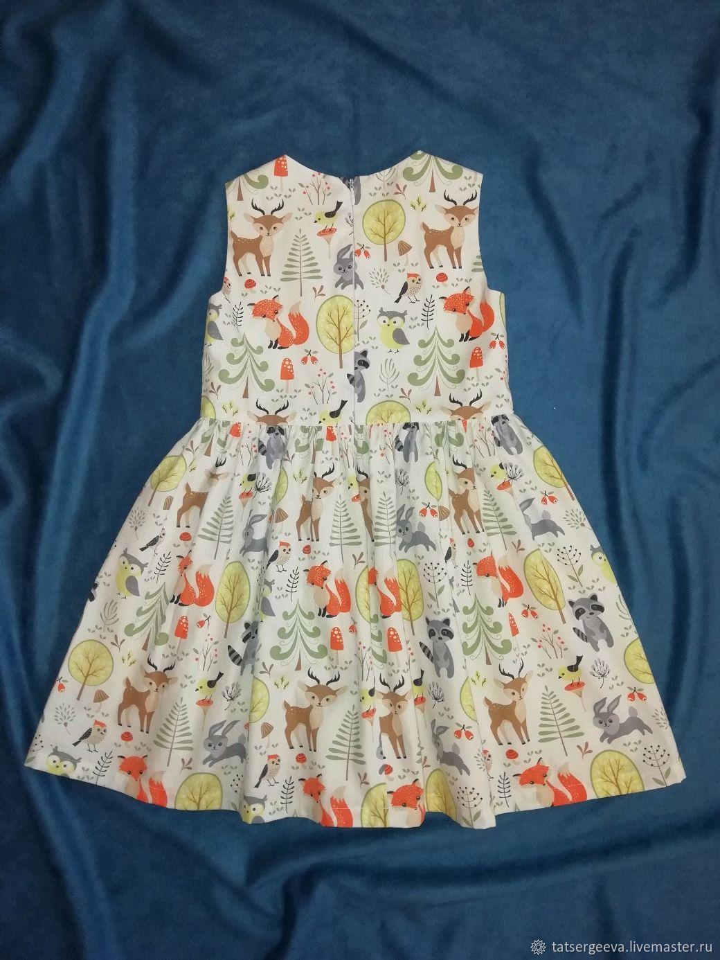 Детское платье Зверята