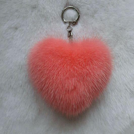 Брелоки ручной работы. Ярмарка Мастеров - ручная работа. Купить Брелок сердце из норки. Handmade. Сердце, сердечки, сердце в подарок