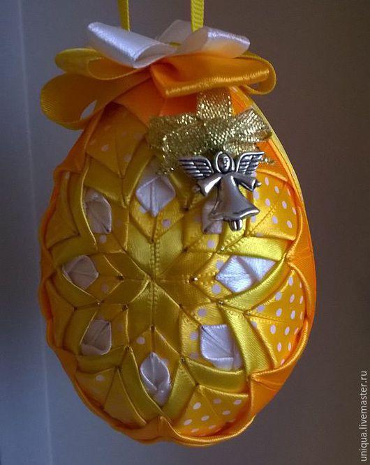 Подарки на Пасху ручной работы. Ярмарка Мастеров - ручная работа. Купить Пасхальное яйцо в стиле аришок. Handmade. Желтый