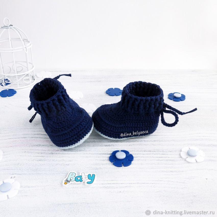 botines para niño de ganchillo botines de garantía azul – compra u ...