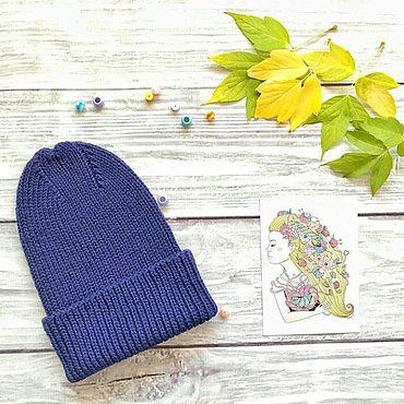 Аксессуары ручной работы. Ярмарка Мастеров - ручная работа Вязаная шапка, теплая шапка, зимняя шапка. Handmade.
