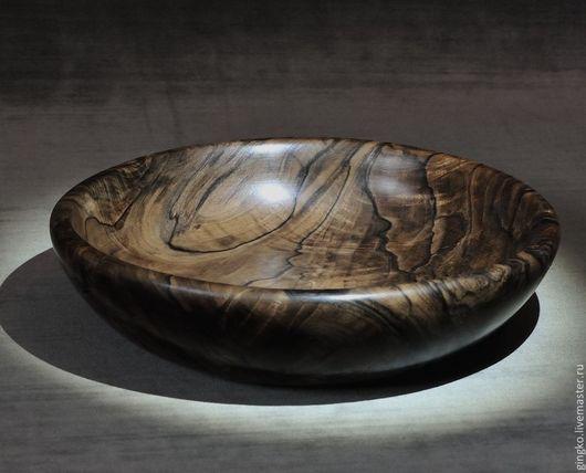 Декоративная посуда ручной работы. Ярмарка Мастеров - ручная работа. Купить Декоративная чашка из дерева. Орех.. Handmade. Дерево, орех
