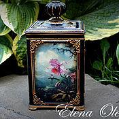 Для дома и интерьера ручной работы. Ярмарка Мастеров - ручная работа шкатулка Орхидеи. Handmade.