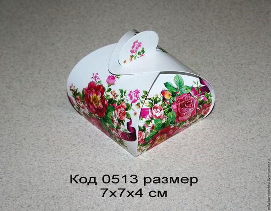 Коробочка подарочная (бонбоньерка) код 0513 размер 7х7х4 см