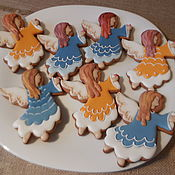 Сувениры и подарки handmade. Livemaster - original item Gingerbread ginger a birthday and the birthday.Angels.. Handmade.