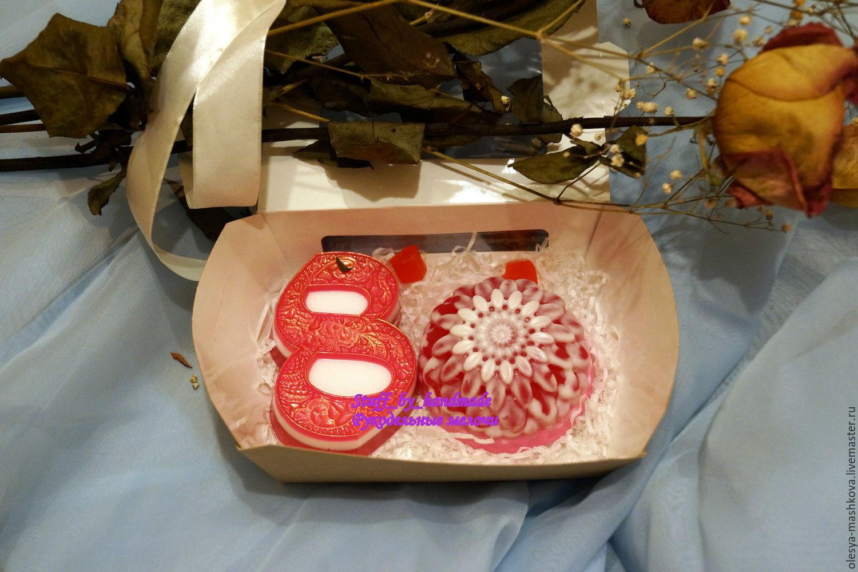 El conjunto de jabón de 8 de marzo (el encaje y el crisantemo), Soap, Moscow,  Фото №1