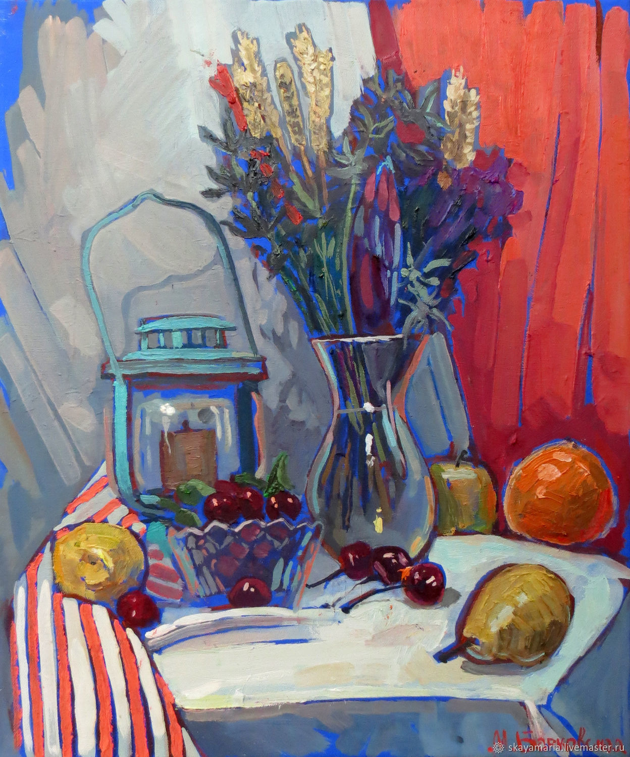 Oil painting. Still life sea Provence, Pictures, Moscow,  Фото №1