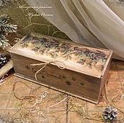 """Короб ручной работы. Ярмарка Мастеров - ручная работа Короб для вина """" Чудес и подарков"""". Handmade."""
