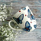 Посуда handmade. Livemaster - original item The flock flies!... Mug handmade ceramics. Handmade.