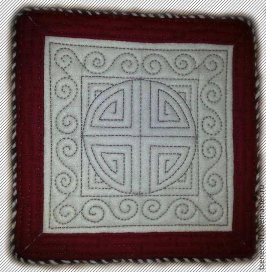 Текстиль, ковры ручной работы. Ярмарка Мастеров - ручная работа. Купить валяный коврик. Handmade. Белый, валяние из шерсти