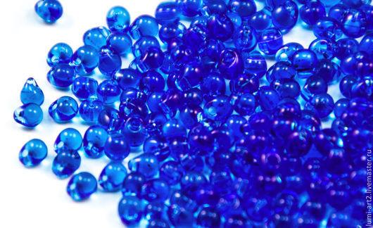 Для украшений ручной работы. Ярмарка Мастеров - ручная работа. Купить Drops 3.4mm DP-150 Transparent Blue Японский бисер Дропсы фирмы Миюки. Handmade.