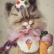 Куклы и игрушки handmade. Livemaster - original item BLUEBERRY SHERBET cat toy knitted. Handmade.