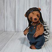 Куклы и игрушки ручной работы. Ярмарка Мастеров - ручная работа Мишка-авиатор Эд. Handmade.
