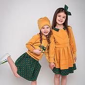 """Работы для детей, ручной работы. Ярмарка Мастеров - ручная работа Трикотажное платье+ободок """"CROCOCO Mimoza"""". Handmade."""