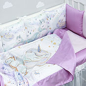 Работы для детей, handmade. Livemaster - original item Baby bed bumpers (set). Handmade.