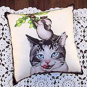 Для дома и интерьера ручной работы. Ярмарка Мастеров - ручная работа Кошка с хомяком. Handmade.