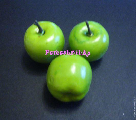 Материалы для флористики ручной работы. Ярмарка Мастеров - ручная работа. Купить Яблоки 3,5 см (зелёные). Handmade. Зеленый