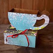 Упаковочная коробка ручной работы. Ярмарка Мастеров - ручная работа Коробка для чая. Продано. Без повтора.. Handmade.