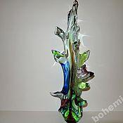 Винтаж handmade. Livemaster - original item Plastic glass free-blown colored glass 51 cm. Handmade.