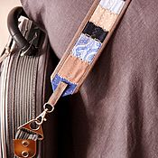 Аксессуары handmade. Livemaster - original item Linen camera strap. Patchwork bag strap.. Handmade.