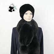 Аксессуары handmade. Livemaster - original item Luxurious fur scarf boa fur Finnish Fox. Black. Handmade.