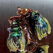 Украшения handmade. Livemaster - original item Ring of the grasshopper. Handmade.