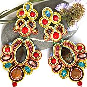 Украшения handmade. Livemaster - original item Soutache earrings. Handmade.