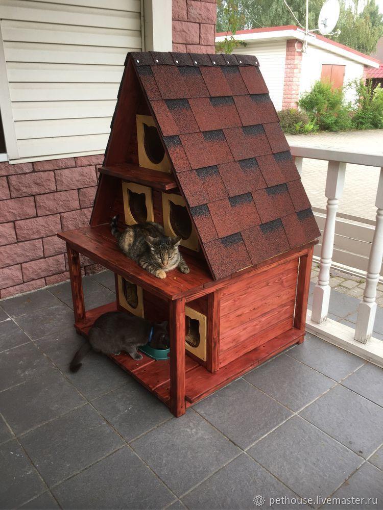 уличный домик для кошек фото результате