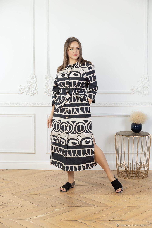 Linen dress ' Africa', Dresses, Novosibirsk,  Фото №1
