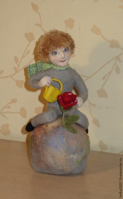 """Коллекционные куклы ручной работы. Ярмарка Мастеров - ручная работа. Купить Валяная игрушка """" Маленький принц"""". Handmade. Разноцветный"""
