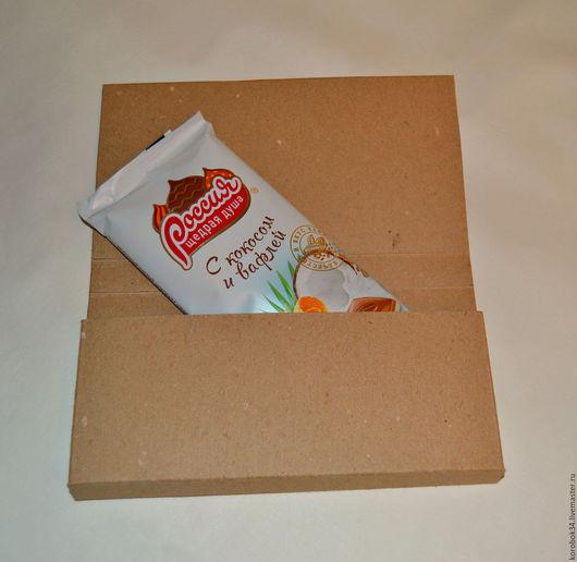 Упаковка ручной работы. Ярмарка Мастеров - ручная работа. Купить Открытка - шоколадница (заготовка для декора)Длинна коробки 17.5 см №3. Handmade.