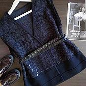 """Одежда ручной работы. Ярмарка Мастеров - ручная работа Жилет"""" Чёрный ворон"""" с кожаным ремнём.. Handmade."""
