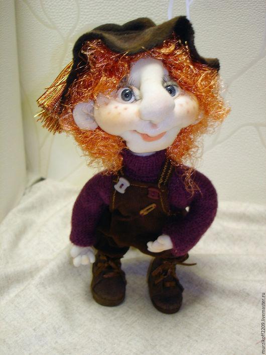 Коллекционные куклы ручной работы. Ярмарка Мастеров - ручная работа. Купить Ещё один рыжий мальчик.. Handmade. Оранжевый, вельвет