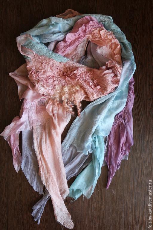 Шарфы и шарфики ручной работы. Ярмарка Мастеров - ручная работа. Купить Авторский  шелковый  шарф La ternura. Handmade.