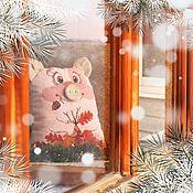 Подарки к праздникам handmade. Livemaster - original item Piggy-toy fun friend. Handmade.