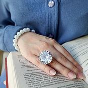 Украшения handmade. Livemaster - original item A silver ring Very large! Just a huge cubic Zirconia 26 mm. Handmade.