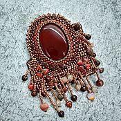 Украшения handmade. Livemaster - original item Brooch-pin: Agate cabochon brooch.. Handmade.