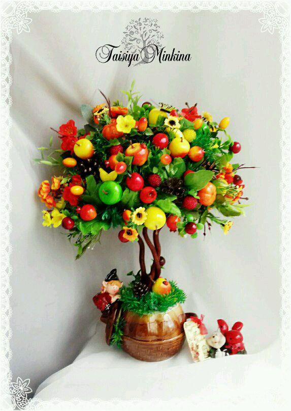 топиарий фото с фруктами