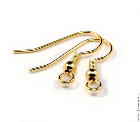 Для украшений ручной работы. Ярмарка Мастеров - ручная работа. Купить Швензы крючки золотые Позолоченная хирургическая сталь. Handmade.